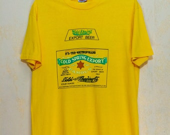 Early 80s COLD SPRING Export Beer T-shirt XL Size