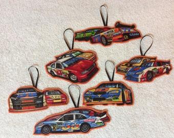 Nascar Race Car Ornaments-Set of 6 Ornaments!!