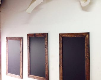 "24"" x 48"" Chalkboard Menu Board Rustic yet clean"