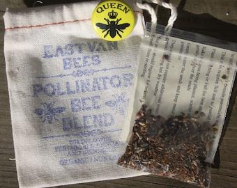 Bee Blend Wildflower seed pack w/ queen bee pin