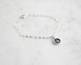 Bodhi leaf bracelet - Sterling Silver bracelet with Bodhi leaf charm - Luck Bracelet - Bodhi bracelet in Sterling silver - Gift for her
