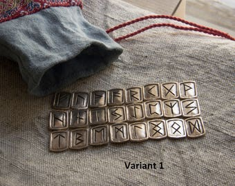 Rune set. Runes for divination. Scandinavian runes. Futhark. Viking Runes.