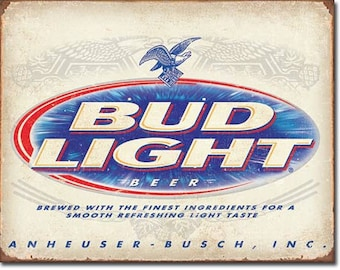 "Tin Sign "" Anheuser Busch Bud Light Beer "" 16""x12"" Man Cave"