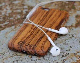 Wood iPhone Case | Wood Apple Case | iPhone 6 Cover | iPhone 6S Case | Real Wood Case | Genuine Wood Cover | Gift Idea | Apple Case