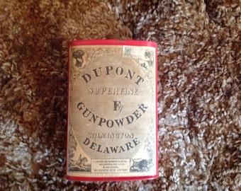 DuPont Superfire F Gunpowder tin