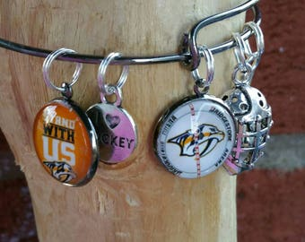 Nashville Predators wire bracelet your choice of image