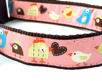 Pink Chicken Dog Collar | Pink Dog Collar | Pink Dog Harness | Personalized Dog Collar | Pink Leash | Dog Collar for Girls | Pink Dog Collar