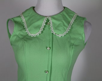 1960's Lime Green Baby Doll Mini Dress