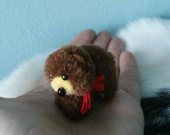 Super cute STEIFF miniature bear! Wool pompom steiff bear