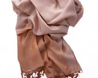 Beige scarf, silk scarf, light scarf, woman's scarf, scarf long, silk scarf for women, fringe scarf, wide scarf, plane scarf, spring scarves