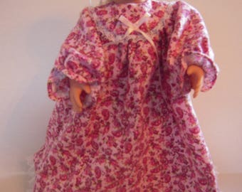 """Rose Flannel Nightgown for 18"""" Doll"""