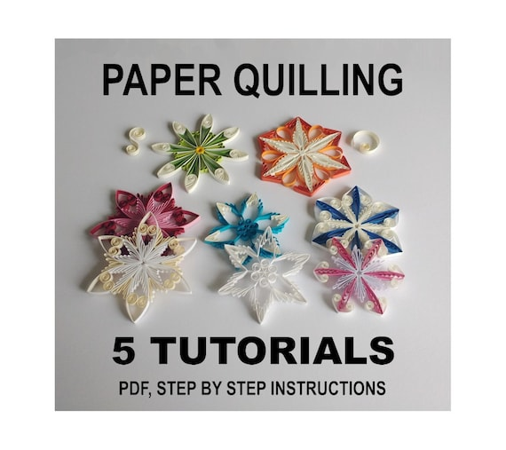 Items similar to 5 Paper Quilling patterns bundle sale ...