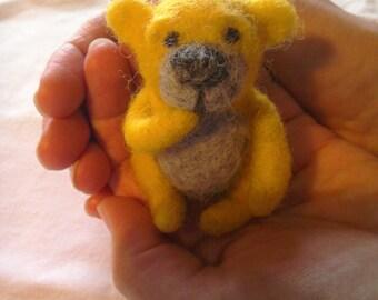 Hand Felted Teddy Bear