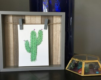 Printable Cactus Free Hugs Wall Art 8x10