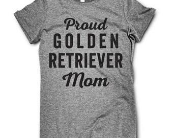 GOLDEN RETRIEVER Proud Mom ladies tee