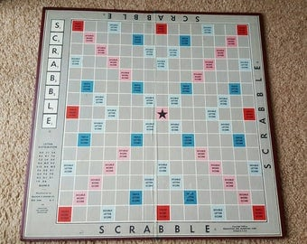 Vintage Scrabble Game Board - excellent condition