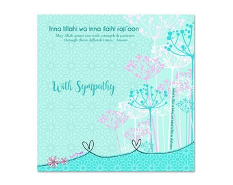 Sympathy,  Islamic Greetings Card
