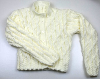 Ladies Short Length Cable Cardigan