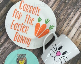 Carrots for the easter bunny- Plate and Mug set!