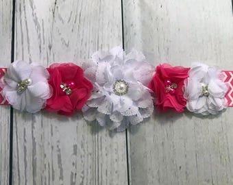 Maternity Sash / Baby Shower Sash / Belly Band / Pregnancy Sash / Belly Sash / Dress Sash / Girl Sash / Park Pink Sash / Flower Girl Sash