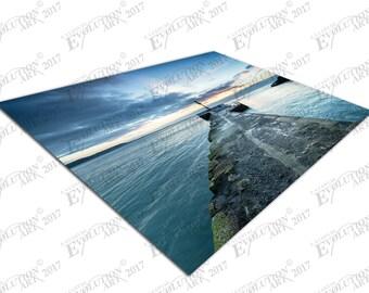 Print on Canvas Dramatic sunrise Pier at Looe south coast Cornwell X1308