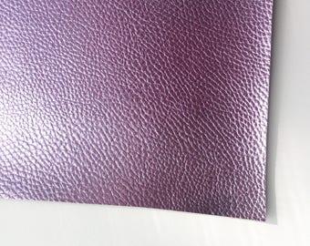 Metallic Foil Lavender Textured Faux Leather