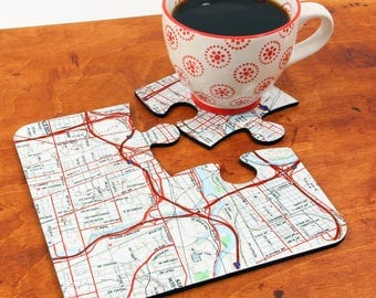 Personalized Map Coasters