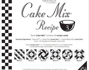 Moda Cake Mix Recipe by Miss Rosie's Quilt Co Design #3