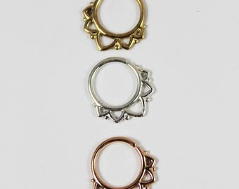 PRINCESS, Silver Septum Ring, Gold Septum Ring, 16 gauge, 1.2mm