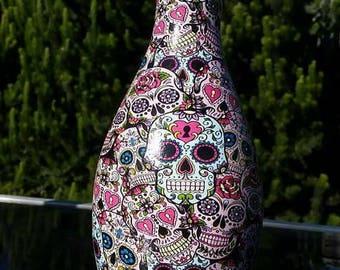 Sugar skull bowling pin