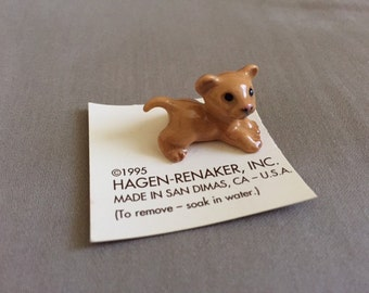 Vintage Hagen Renaker Miniature Baby Lion Cub Collectible
