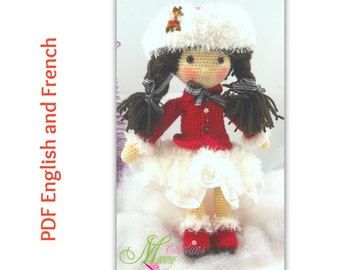 ENGLISH PATTERN - Pattern skater clothine, pattern clothing, skater, red, Patron vêtement patineuse, patron habit, patineuse, rouge