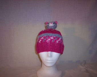 Kitten Top beanie child/young adult size