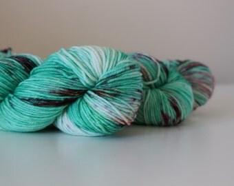 Big Head, Little Arms - Flex DK weight 100% superwash merino hand dyed speckled variegated yarn - 231 yards