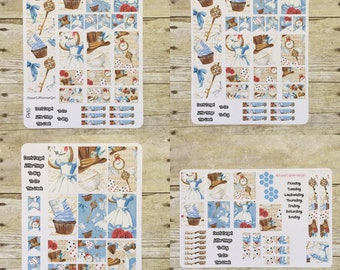 Alice and The Rabbit Hole Weekly Layout Planner Stickers