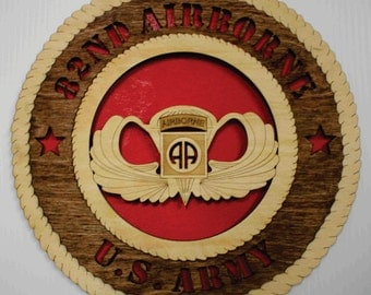 US Army 82nd Airborne, with Parachutist Badge  Wall Tribute