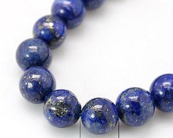 "Blue Natural Lapis Lazuli 6mm Round Gemstone Beads (8"" strand)"