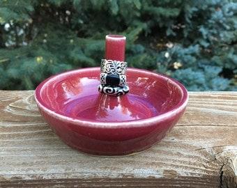 Handmade, Wheel-Thrown Ring Bowl, Ring Keeper, Jewelry Dish
