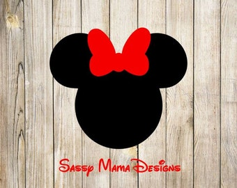 Minnie Mouse SVG design, instant download