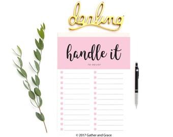 To Do List Printable, Handle It Printable, To Do List, Handle It, Printable To Do List, Checklist Printable, Planner Printable, Planner
