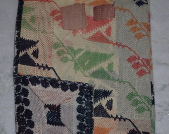 Indian Handmade Kantha Quilts Vintage Throw Bedcover Bedspread Gudri 1988 BY artisanofrajasthan