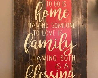 Home Family Blessing Planked Wood Ready to ship!