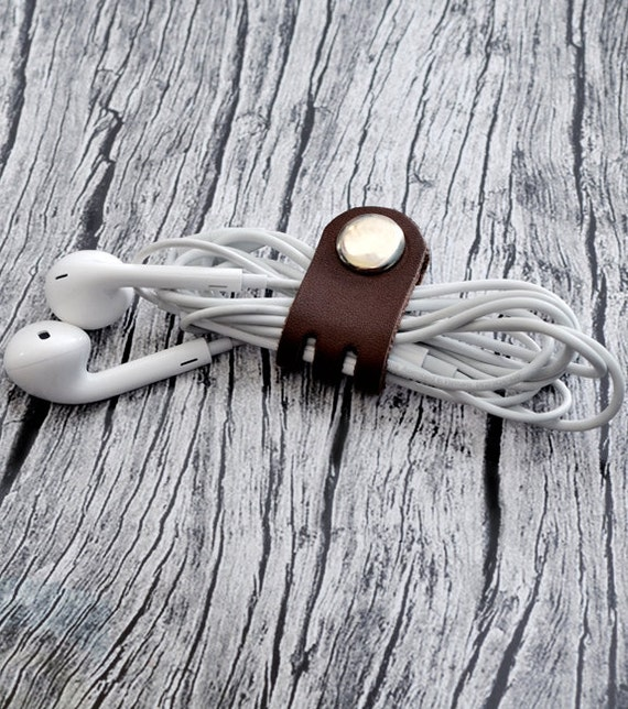 Cord Holders: Leather Cord Holder // Leather Headphone Holder Leather