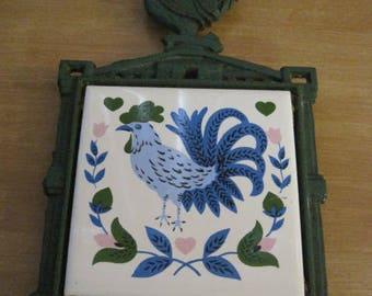 Vintage Rooster trivets / Vintage Sub-flat Cock