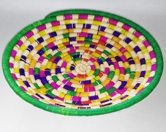 Woven Basket, Boho Basket , Home Decor, Home Art, Straw Bowl, Bowl, Straw Basket, Panier, Canasta, Cestas