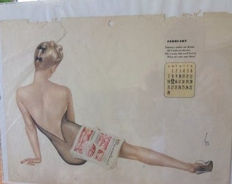 Varga's Pin Up Calendar Page
