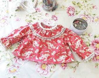 Baby Shirt,  Girls,  Kids , Romantic,  Handmade