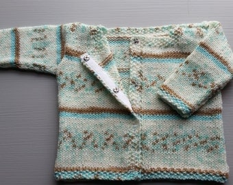 Baby cardigan with snaps, 0-3 months