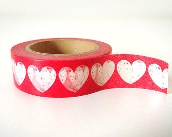 Hert shape pretty red washi tape