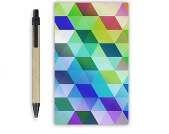 Small Notepad - Geometric, Stationery, Recycled Paper, To do list, A6 Notepad, Writing pad